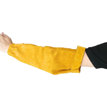 Нарукавники спилковые желтые