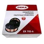 Сварочная проволока DEKA ER70S-6 (соотв. СВ08Г2С) 0.8мм, 15кг
