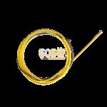 Канал стальной d 1,2-1,6 мм желтый 5,5 м