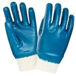 Перчатки нитриловые, манжет-резинка х/б