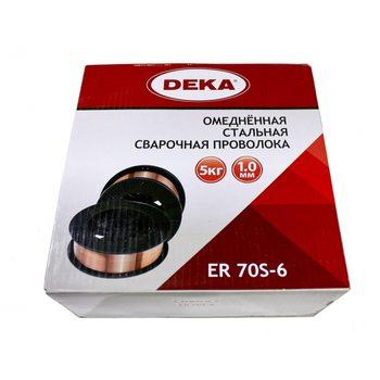 Сварочная проволока DEKA ER70S-6 (соотв. СВ08Г2С) 1мм, 5кг