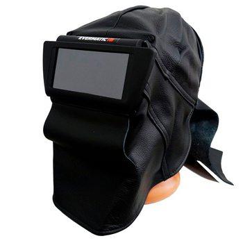 Сварочная кожаная маска Evermatic NAHKIS с защитой шеи 145001