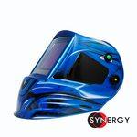Маска сварочная FoxWeld КОРУНД МЕГА (фильтр MEGA LED 2), синяя